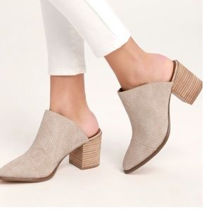 NEW REPORT Tosh Neutral Mules Size 6